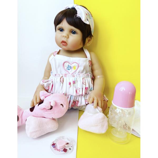 Силиконовая Коллекционная Кукла Реборн Reborn Девочка София ( Виниловая Кукла ) Высота 47 См