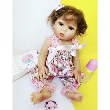 Силиконовая Коллекционная Кукла Реборн Reborn Девочка Регина ( Виниловая Кукла ) Высота 47 См