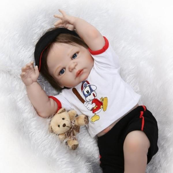 Силиконовая Коллекционная Кукла Реборн Reborn Мальчик Яша ( Виниловая Кукла ) Высота 57 см
