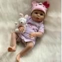 Силиконовая Коллекционная Кукла Реборн Reborn Девочка Мила ( Виниловая Кукла ) Высота 55 см