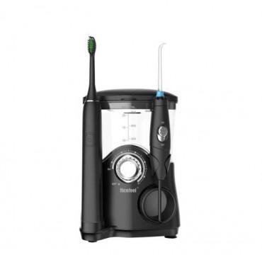 Стационарный Ирригатор 2 в 1 Professional 7 насадок + электрозвуковая зубная щетка 5 режимов Nicefeel Черный