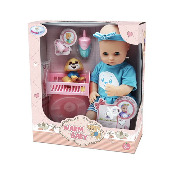 Интерактивная Кукла Baby Born ( Пупс Беби Борн ) Очаровательный Малыш 42 см с Домашним Питомцем + 7 Аксессуаров