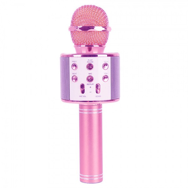 Караоке микрофон Wster WS 858 Розовый