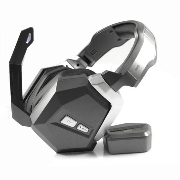 Беспроводные Игровые Наушники с Микрофоном Серые Honcam HC-S2036