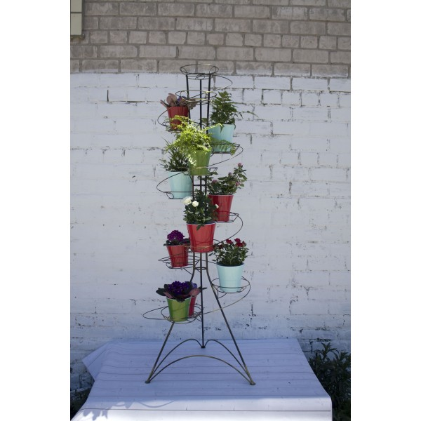 """Кованая подставка для цветов на 12 горшков """"Спираль 12"""""""