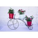 """Кованая подставка для цветов на 3 горшка """"Велосипед Большой"""""""