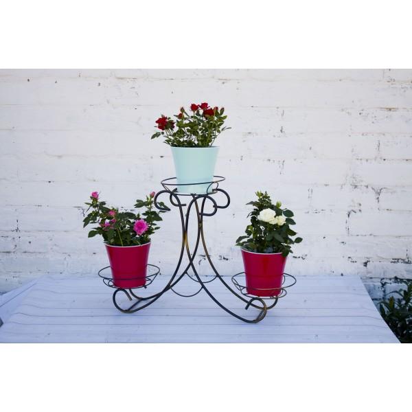 "Кованая подставка для цветов на 3 горшка ""Горка"""