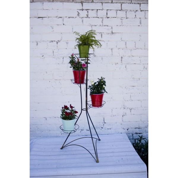 "Кованая подставка для цветов на 4 горшка ""Башня 4"""