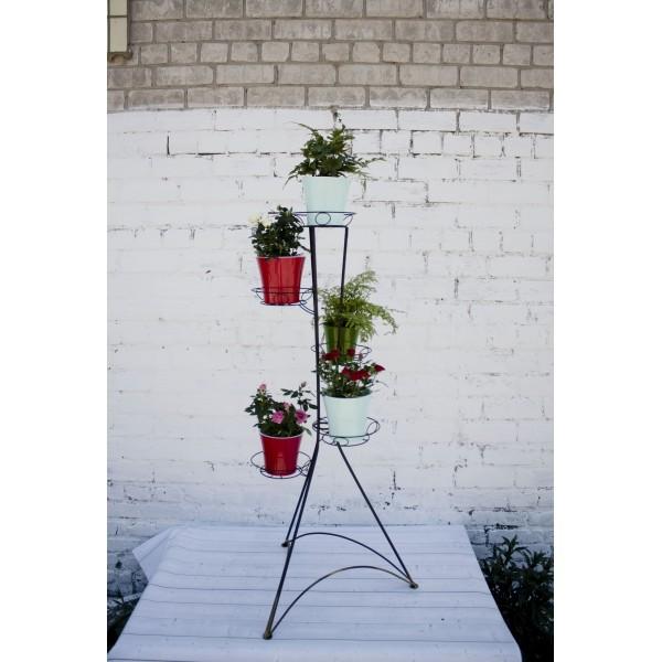 "Кованая подставка для цветов на 5 горшка ""Башня 5"""