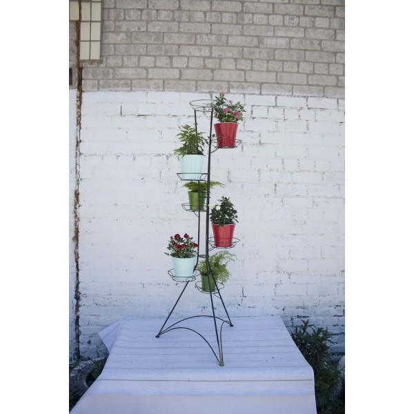 "Кованая подставка для цветов на 7 горшка ""Башня 7"""