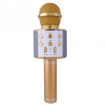 Караоке микрофон Wster WS 858 Золотой