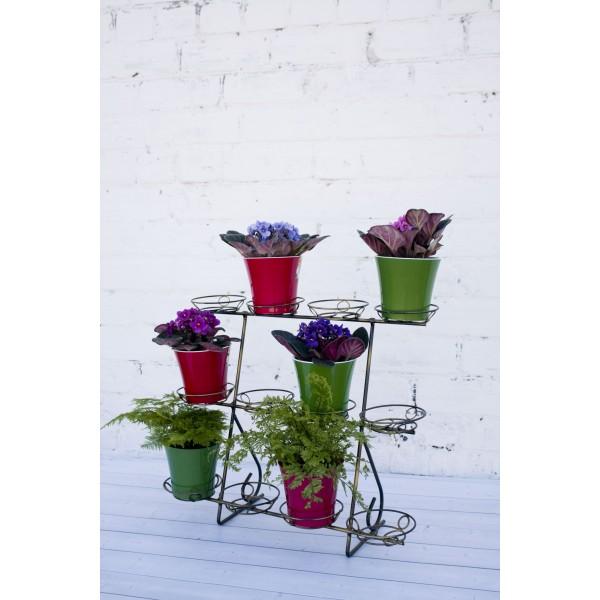 """Кованая подставка для цветов на 12 горшков """"Фиалка 12"""""""