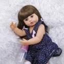 Силиконовая Коллекционная Кукла Реборн Reborn Девочка Сара ( Виниловая Кукла ) Высота 55 См