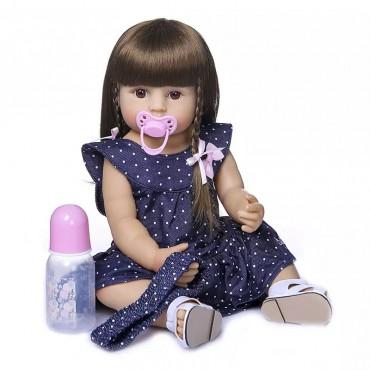 Силиконовая Коллекционная Кукла Реборн Reborn Девочка Сара( Виниловая Кукла ) Высота 55 См