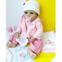 Силиконовая Коллекционная Кукла Реборн Reborn Девочка Молли ( Виниловая Кукла ) Высота 55 См