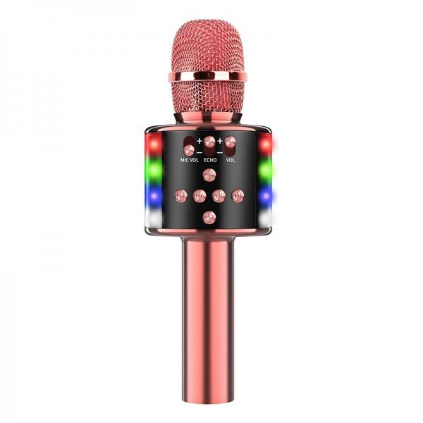 Караоке Микрофон D168 Розовое Золото