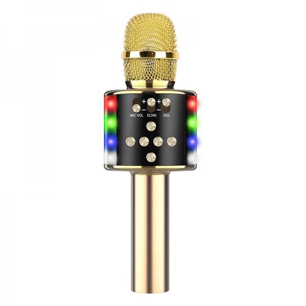 Караоке Микрофон D168 Золотой