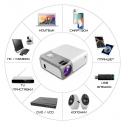 Проектор Портативный 4000 Lumen с Динамиком + WIFI 5G + Bluetooth 5.0 Cheerlux C50  Cheerlux C50
