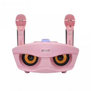 Беспроводная Караоке Система SDRD на Два Микрофона с Колонкой SD-306 Розовый