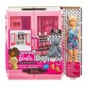 Кукла Барби Игровой Набор Barbie и Модный Шкаф с Одеждой и Аксессуарами Mattel  GBK12