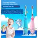 Детская Электрическая Зубная Щетка Звуковая Seago SG921 Музыкальная с LED Подсветкой Голубая SG921