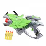 Бластер Игрушечный Пистолет Детский Дракон Со Светом и Звуком Мягкие Пули Combuy Зелёный BB11