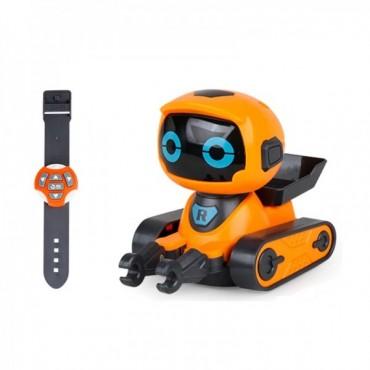 Интерактивный Робот На Радиоуправлении Робот Игрушка Программируемый Со Светом и Звуком Оранжевый