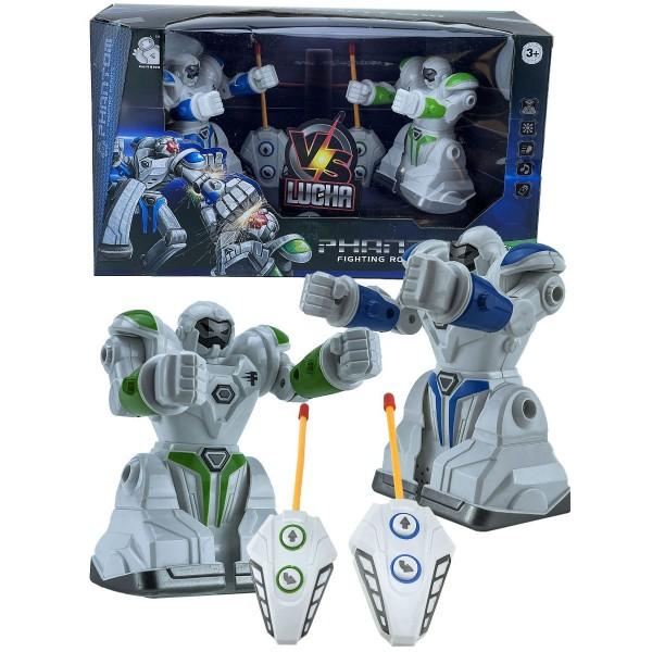 Робот Игрушка Интерактивный Набор Роботов Боксёров со Светом и Звуком на Радиоуправлении Combuy