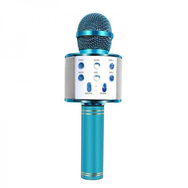Караоке микрофон Wster WS 858 Голубой