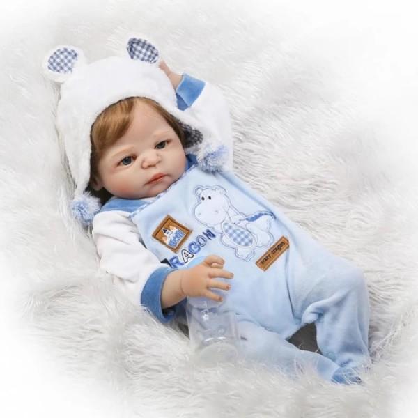 Силиконовая Коллекционная Кукла Реборн Reborn Мальчик Тёма ( Виниловая Кукла ) Высота 57 см