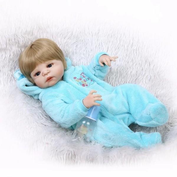 Силиконовая Коллекционная Кукла Реборн Reborn Мальчик Томми ( Виниловая Кукла ) Высота 57 см
