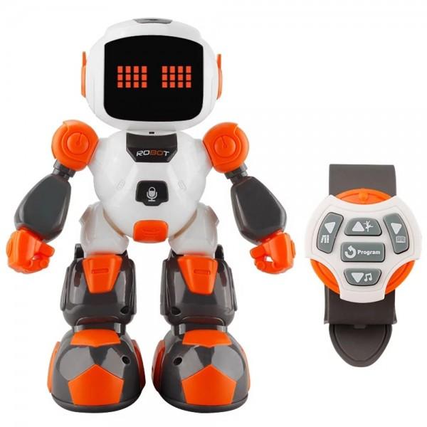 Игрушка Робот Интерактивный Говорящий Программируемый Робот На Радиоуправлении Со Светом и Звуком 3 in 1