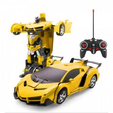 Робот Трансформер Бамблби Робот Машинка на Радиоуправлении Ламборгини со Светом и Звуком Желтая