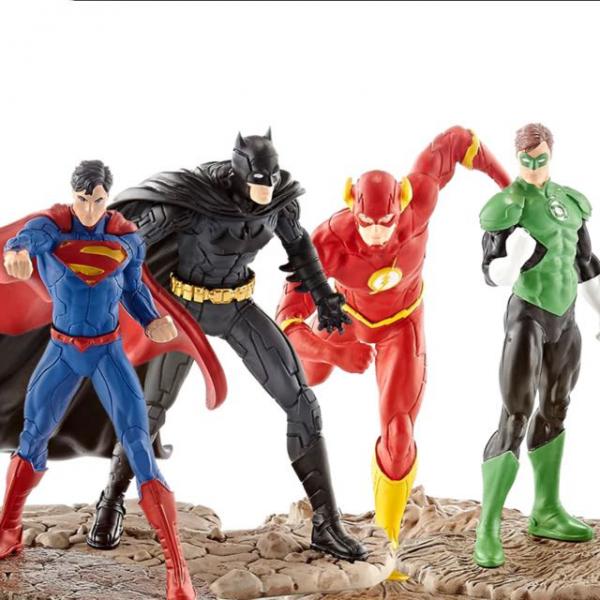 Марвел Фигурка Бэтмен Супермен Флеш Зелёный Фонарь Игрушки Супергерои Schleich