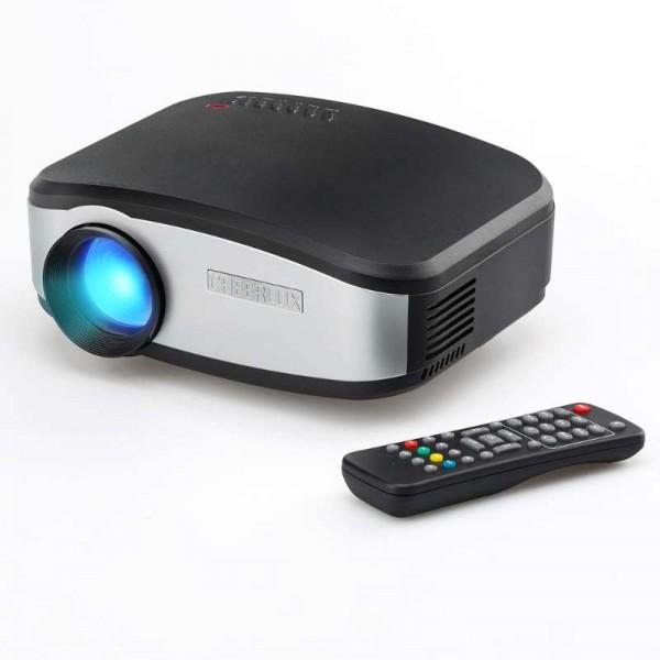 Портативный мини LED проектор 1500 lumen с динамиком + TV тюнер Cheerlux Черный