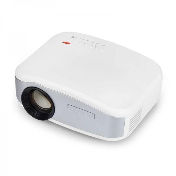 Портативный мини LED проектор 1500 lumen с динамиком + TV тюнер Cheerlux Белый