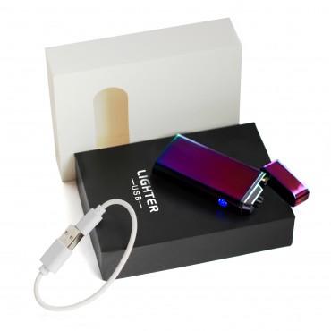 Электроимпульсная USB зажигалка Градиент Хамелеон
