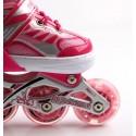 Роликовые коньки Happy 2 с Подсветкой 34-37 Pink
