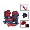 Комплект ролики-квады Disney Spiderman 29-33 Черный с красным