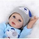 Силиконовая Коллекционная Кукла Реборн Reborn Мальчик Гарри ( Виниловая Кукла ) Высота 55 см