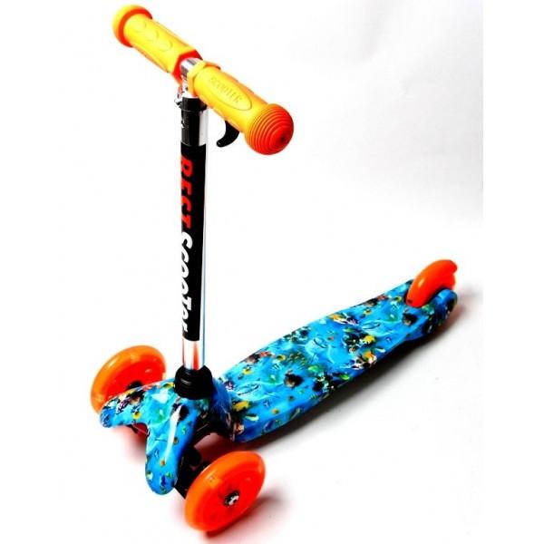 Самокат Детский Scooter Mini Best Nemo Голубой