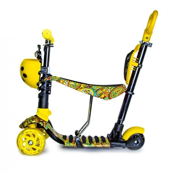 Самокат Scooter Божья коровка 5 in 1 Сarousel Черный с желтым