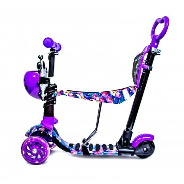Самокат Детский Scooter Божья Коровка 5 in 1 Orchid Фиолетовый