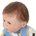 Силиконовая Коллекционная Кукла Реборн Reborn Мальчик Лёва  ( Виниловая Кукла ) Высота 57 см