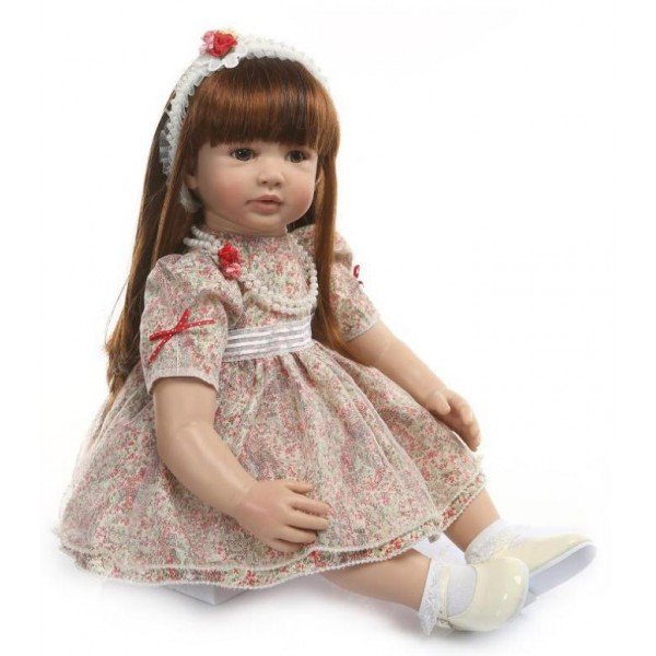 Силиконовая Коллекционная Кукла Реборн Reborn Девочка Стелла ( Виниловая Кукла ) Высота 60 см