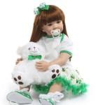 Силиконовая Коллекционная Кукла Реборн Reborn Девочка Ника ( Виниловая Кукла ) Высота 60 см