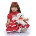 Силиконовая Коллекционная Кукла Реборн Reborn Девочка Олечка ( Виниловая Кукла ) Высота 60 см