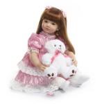 Силиконовая Коллекционная Кукла Реборн Reborn Девочка Эра ( Виниловая Кукла ) Высота 60 см