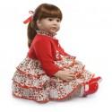 Силиконовая Коллекционная Кукла Реборн Reborn Девочка Катюша ( Виниловая Кукла ) Высота 60 см