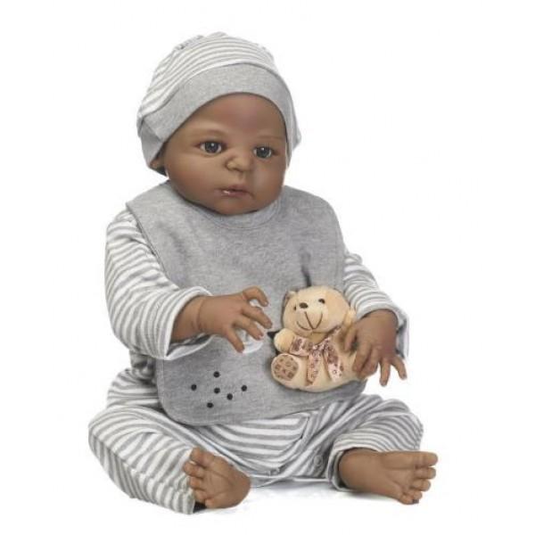 Силиконовая Коллекционная Кукла Реборн Reborn Мальчик Тони ( Виниловая Кукла ) Высота 57 см